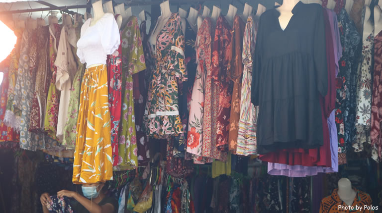 Sukawati Painting Art Market Clothes Stall